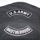 US ARMY BROTHERHOOD BACK ROCKERS PATCHES FOR BIKER MOTORCYCLE VEST JACKET