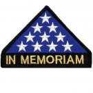 """US Flag In Memoriam Triangle Patch Stars for vest jacket size 4"""""""