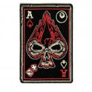 Ace of Spade Skull Patch dices 8 ball for Biker Motorcycle vest jacket size 4""