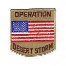 """Operation Desert Storm Patch US Flag for Biker Motorcycle vest jacket size 4"""""""