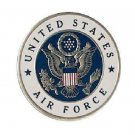US Air Force Large Back Patch for Vest Jacket 10 inch blue on white silver trim