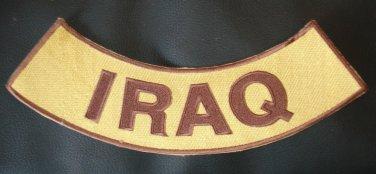 "Iraq War Veteran Rocker Patch Combat Color for Biker Jacket  Vest  size 11"""
