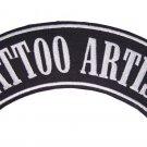TATTOO ARTIST BIKER ROCKER PATCH BACK PATCH FOR VET BIKER MOTORCYCLE VEST JACKET