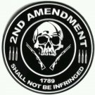 2nd Amendment shall not be Infringed patch biker motorcycle Gun control Size 4""