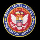 10 in. round United States of America Eagle patch