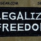 LEGALIZE FREEDOM White on Black Small Badge for Biker Vest Motorcycle Patch