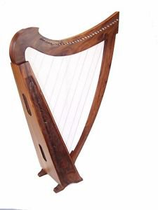 Large Pedestal Harp with Levers 31 Strings free gig bag and extra strings set 42