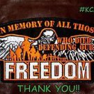 IN MEMORY OF ALL THOSE FREEDOM for Biker Motorcycle Vest Jacket Back Patches 10""