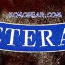 """VETERAN Silver board Back Patch Bottom Rocker for Biker Veteran Vest Jackets 10"""""""