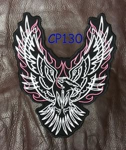 FLAMED EAGLE TRIBLE for Biker Motorcycle Vest Jacket Lady Back Rocker Patch  10""