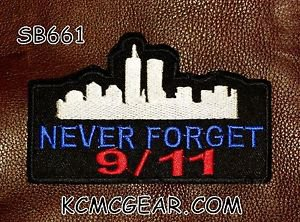 NEVER FORGET 9/11 Small Badge for Biker Vest Motorcycle Patch