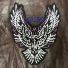 SCREAMING EAGLE with Purple Patch for Women Biker Vest Jacket Back Patches