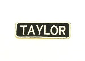 TAYLOR  Name Tag Patch Iron on or sew on for Shirt Jacket Vest New Name Patches