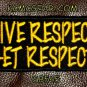 GIVE RESPECT GET RESPECT Small Badge for Biker Vest Jacket Motorcycle Patch