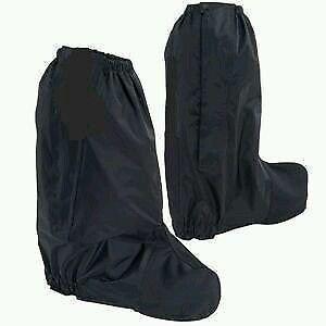 Black Waterproof  Motorcycle Rain Boot Covers gaitor gaiter pair Rain Guard XL