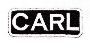 CARL Name Tag Patch Iron or sew on for Shirt Jacket Vest New BIKER Patches