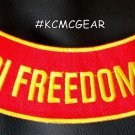 "IRAQI FREEDOM VET Back Patch Bottom Rocker for Biker Veteran Vest Jacket 10"""