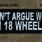 DON'T ARGUE White on Black Small Badge for Biker Vest Jacket Motorcycle Patch