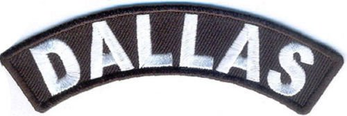 Dallas City Patch Rocker Sml Embroidered Motorcycle Biker Vest Patches SR763