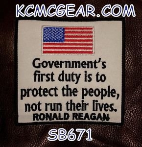 GOVERNMENT�S FIRST DUTY Small Badge for Biker Vest Jacket Motorcycle Patch
