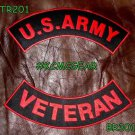 US ARMY VETERAN Military Patches Set for Biker Motorcycle Vest Jacket
