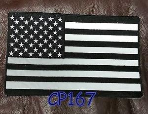 REFLECTIVE U.S. FLAG for Biker Motorcycle Vest Jacket Back Patches 10�