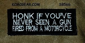 HONK IF YOU'VE NEVER SEEN Small Badge for Biker Vest Jacket Motorcycle Patch