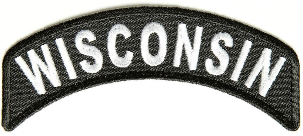 Wisconsin State Rocker Patch Sml Embroidered Motorcycle Biker Vest Patches SR752