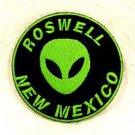 Roswell New Mexico Green on black Small Badge Biker Vest Motorcycle Patch