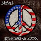 FLAG PEACE SIGN Small Badge for Biker Vest Motorcycle Patch