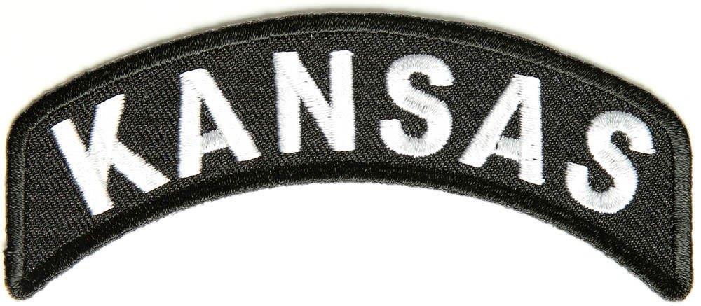 Kansas State Rocker Patch Sml Embroidered Motorcycle Biker Vest Patch SR719