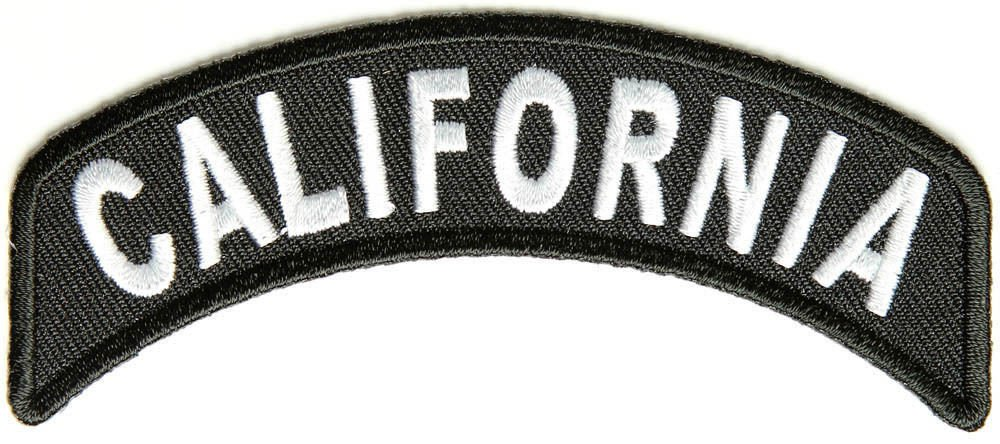California State Rocker Patch Sml Embroidered Motorcycle Biker Vest Patch SR708