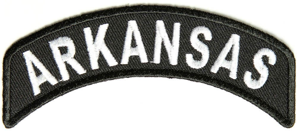 Arkansas Rocker Patch Small Embroidered Motorcycle NEW Biker Vest Patch