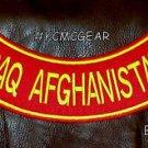 "IRAQ AFGHANISTAN Back Patch Bottom Rocker for Biker Veteran Vest Jacket 10"""
