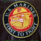 """U.S. MARINES FIRST TO FIGHT for Biker Motorcycles Vests Jackets Back Patches 10"""""""