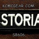 HISTORIAN White on Black Small Badge for Biker Vest jacket Motorcycle Patch