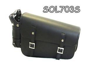 Motorcycle Swing Arm Bag Solo Single Side Saddlebag for Harley Softail 703R