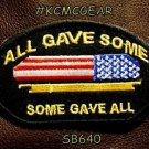 ALL GAVE SOME, SOME GAVE ALL Oval Small Badge for Biker Vest Motorcycle Patch