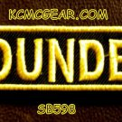 FOUNDER YELLOW ON BLACK Small Badge for Biker Vest jacket Motorcycle Patch