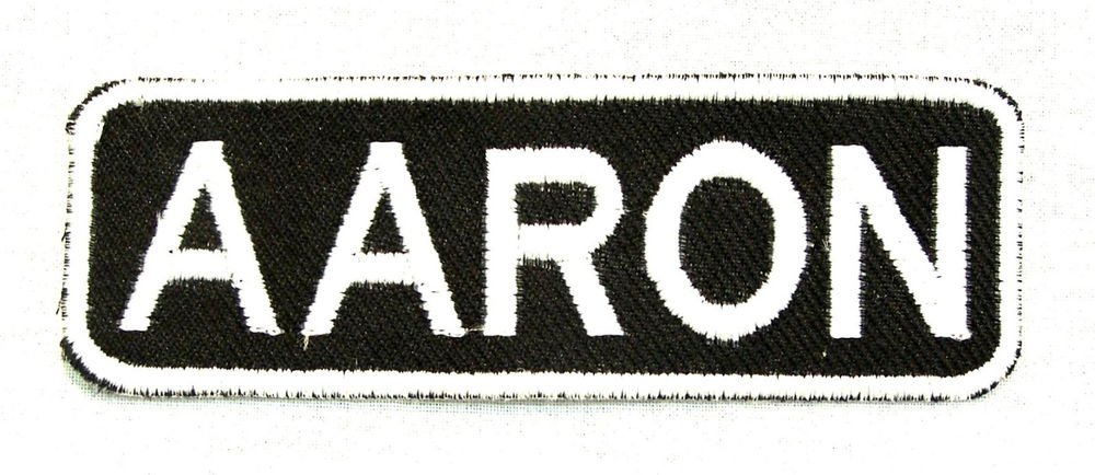 AARON Name Tag Patch Iron or sew on for Shirt Jacket Vest New BIKER Patches