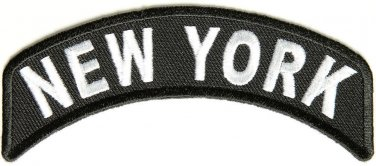 New York State Rocker Patch Sml Embroidered Motorcycle Biker Vest Patch SR735