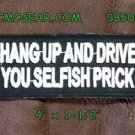 Hang Up and Drive Small Badge for Biker Vest Jacket Motorcycle Patch