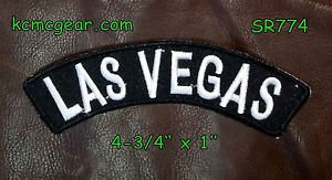 Embroidered Patch Small Top Rocker Biker Patches Las Vegas