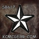 REFLECTIVE STAR Black Small Badge for Biker Vest Jacket Motorcycle Patch