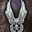 SKULL AND CROSS BONE EAGLE for Biker  Motorcycles Vests Jackets Back Patches 10""