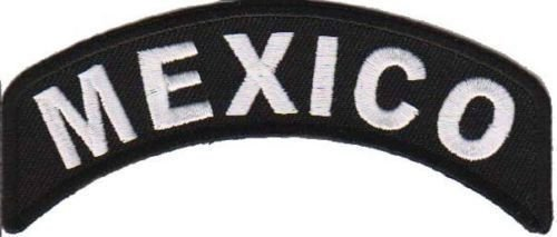 Mexico Rocker Patch Small Embroidered Motorcycle NEW Biker Vest Patch