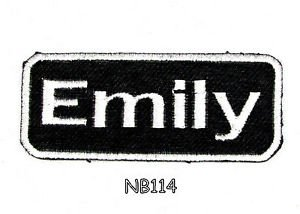 EMILY Name Tag Patch Iron or sew on for Shirt Jacket Vest New BIKER Patches