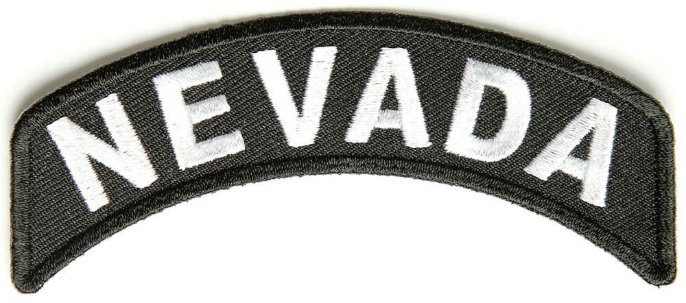 Nevada State Rocker Patch Sml Embroidered Motorcycle Biker Vest Patch SR731