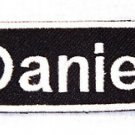 DANIEL Name Tag Patch Iron on or sew on for Shirt Jacket Vest New Name Patches