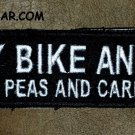 MY BIKE AND I Small Badge for Biker Vest Jacket Motorcycle Patch